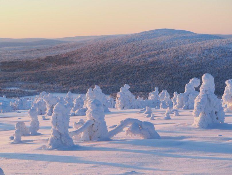 Winter scenery Finnish lapland